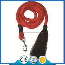 L6108 3/4 Poly Lead Rope with snap and horsehair end