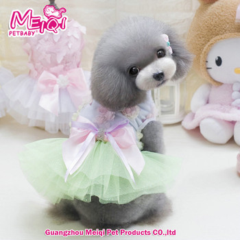 Fashion design summer pet clothes dress flower design dog dress