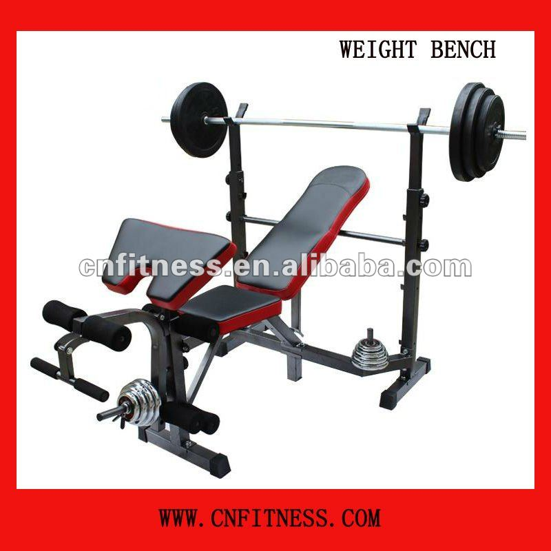 2012 Popular Multifunctional Fitness Weight Bench With Barball And Height Adjustable