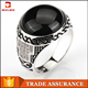 Alibaba wholesale jewelry white stone islamic silver ring natural stone 925 silver ring black stone silver ring