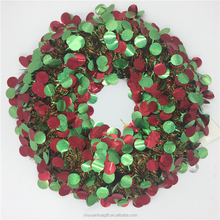 Factory Direct Round Shiny Wreath Front Door Christmas Decoration
