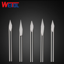 WeiTol 3.175mm solid carbide three face engraving bit cnc cutting tools