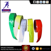 High visibility and high intensity yellow reflective tape/sticker with lattice film