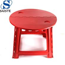 Factory direct 18 inches height round face portable plastic folding picnic table
