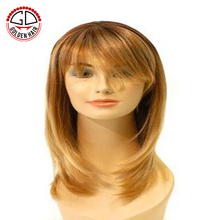 Golden Hair Factory Price Popular Short Style Grey Hair Wig Machine Wigs