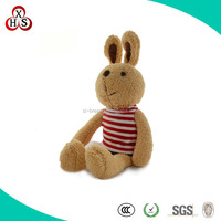 Top Grade Lovely Plush Sitting Rabbit With Strip T-shirt