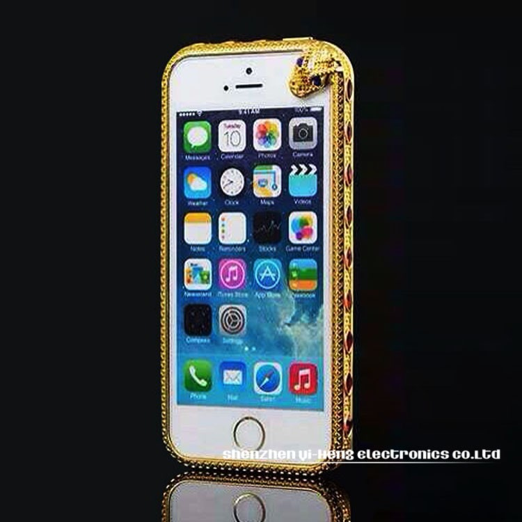 Hot! Luxury Bumper Frame For iPhone6 ,Case for iPhone5 5S Diamond Gold Slim Shining Bling Case For iPhone 5