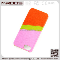 New premium design colorful ultra-thin real leather phone case for iphone 5 5c 6