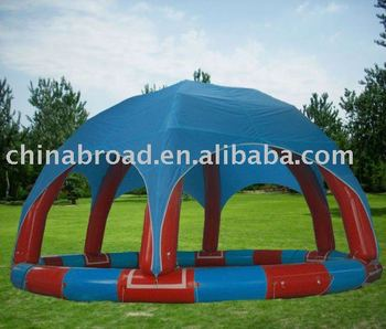 inflatable swimming pool with tent cover(YCD-002 8X8m)