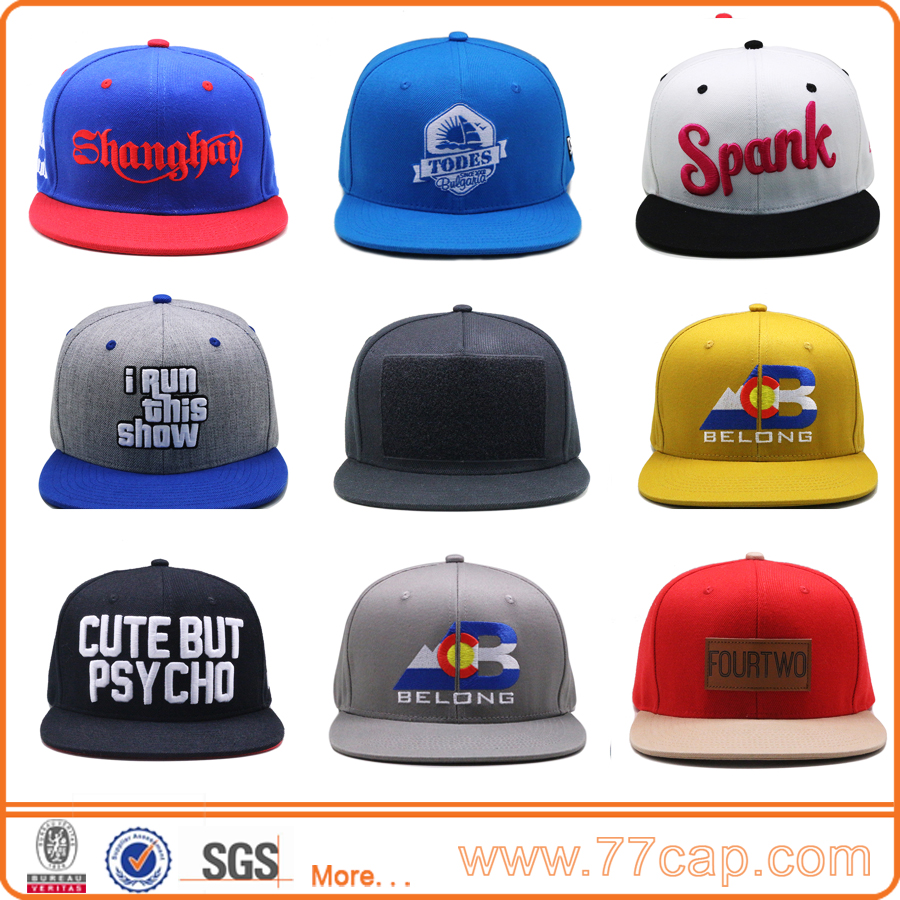 Wholesales Custom Embroidery Caps Hats Snapback