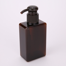 150ml 250ml 280ml 450ml 650ml PETG Square Shampoo Stock Bottles Amber Plastic Bottle with Small Quantity
