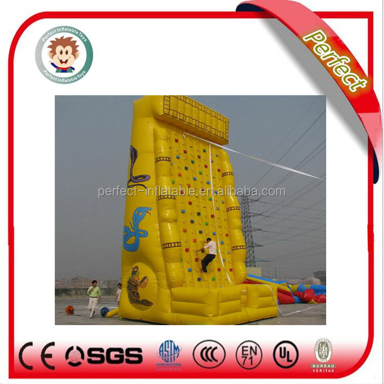 Adult mobile rock climbing wall, inflatable rock climbing wall