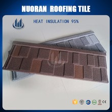 environmental raw material manufacturer supply 100% waterproof wholesale stone coated galvanized blue spanish roof tile