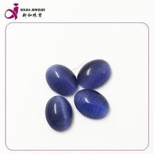 Popular Perfect cutting oval gemstone synthetic cat eye stone