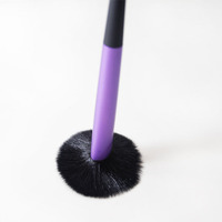 New ProfessionalPurple Blusher Facial Powder Makeup Make up Brush Flat Top Cosmetic Tool V0246A