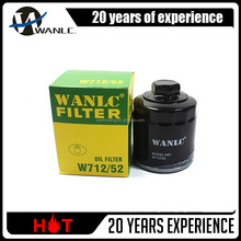 High filtration Oil filter W712/52 for SEAT and SKODA