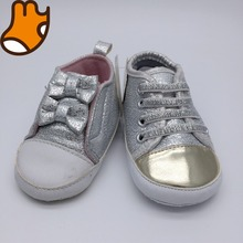 shining sequins soft sole toddler girls shoes with bowknot
