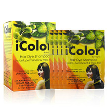 iColor Hair Dye Shampoo with Olive & Noni Extract Chestnut Brown