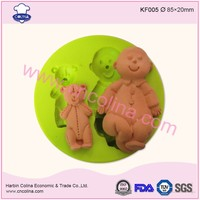 Baby and teddy fondant silicone mold for cake decoration