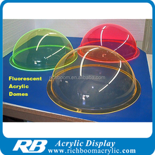 clear/colorful acrylic dome with flange