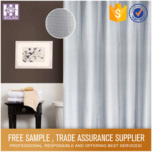 100% Polyester Bathroom Hookless Fabric Shower Curtain