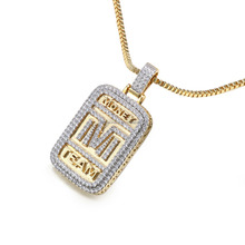 New Products Sterling Silver Jewelry Iced MONEY TEAM Pendants