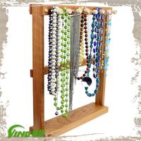 Multi-layer Wooden Jewelry Showcase , Display Stand Rack , jewelry display case