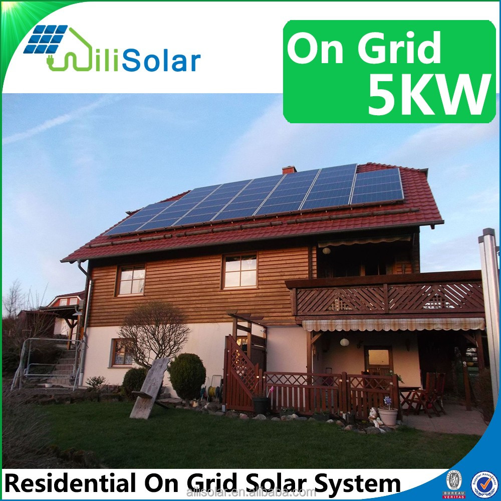 Renewable solar energy system 5KW on grid with panel/inverter