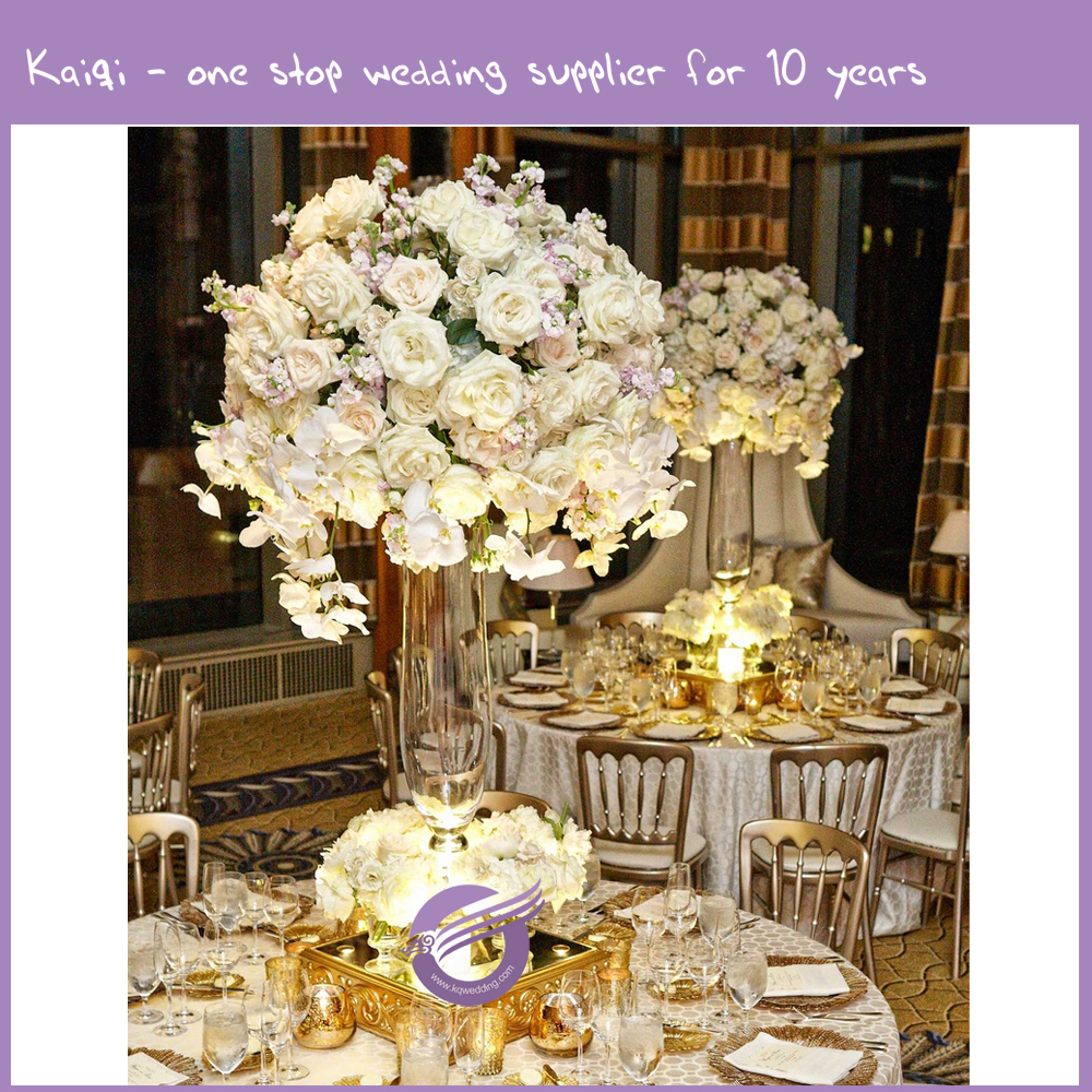 K9690 Wedding table centerpiece glass vase flower stand