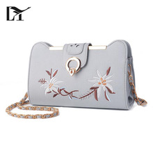 Elegant And Graceful Designed Fancy Gray PU Embroidered East West Adore Ladies Corss Body Bags