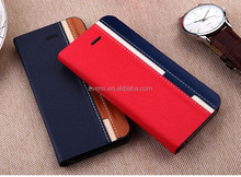 Contrast color Fashion PU Leather Wallet Flip Mobile Phone Case Cover For Lenovo A500