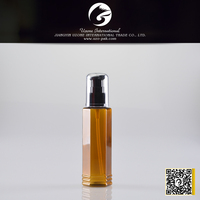 high quality foldable water bottle for cosmetic with black pump