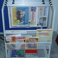 Newspaper Amp Magazine Rack