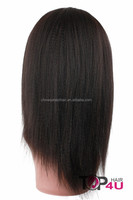Grade 5A 100% human hair kinky straight full lace wig
