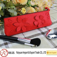 2015 Alibaba Hot Sale Factory Price Colorful Felt Cosmetic Case Made in China