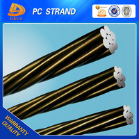China factory direct 15.24mm and standard cross-sectional PC strand from Tianjin DALU