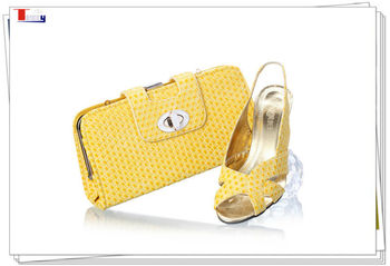 2013 yellow matching shoes and bags