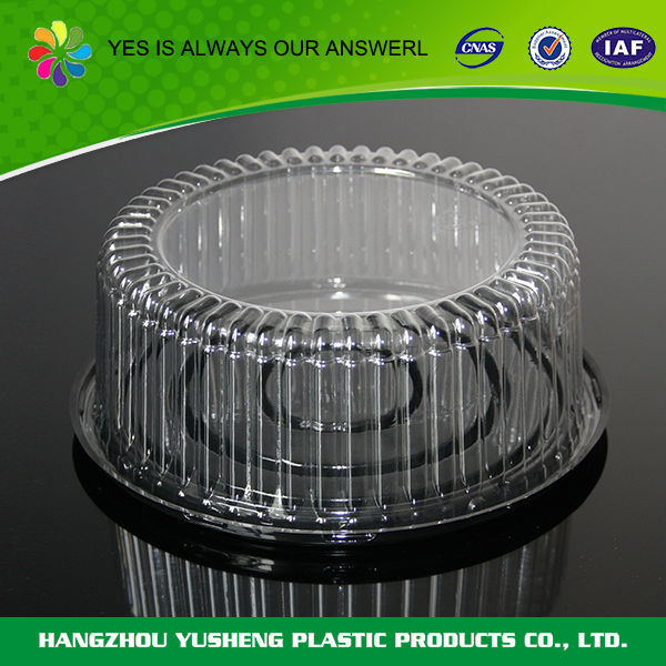 Wholesale high quality round cake container with lid