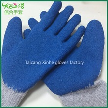 China Wholesale Best selling builders mechanic construction grip latex coated safety work glove pattern for workmen
