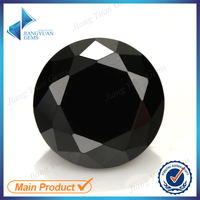 best Supplier wholesale 8mm round black cubic zirconia cz rough semi precious stone