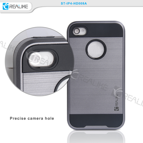 Wholesale shockproof back cover case for iphone 4