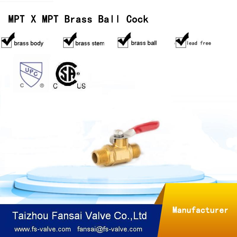"Best quality brass short handle forged 3/8"" male thread PT brass mini ball gas valve"