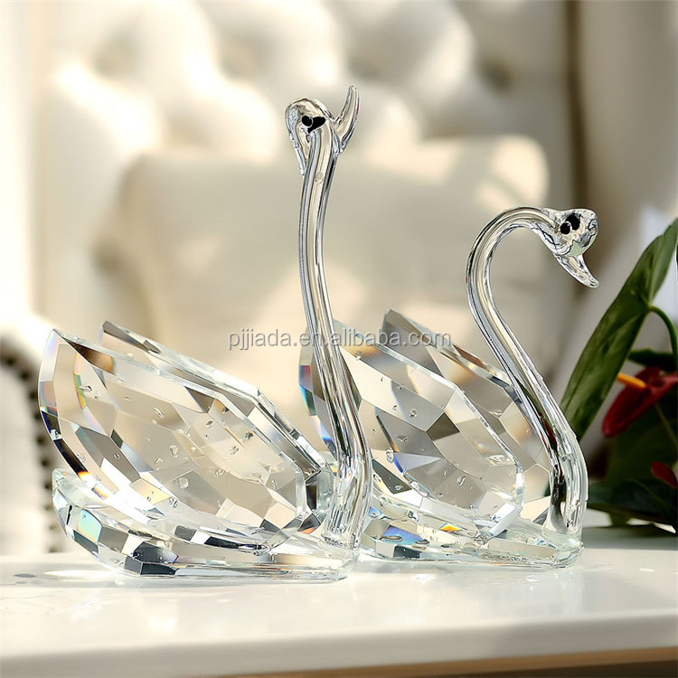 colorful clear crystal double swan married couple Wedding Gift /Valentine's Day Gift /Christmas gift  Home Decoration