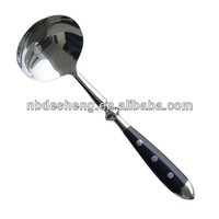 high quality different types of stainless steel kitchen soup ladle