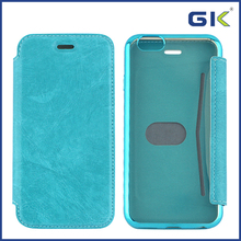 [GGIT] Electroplating Stitching Holster TPU+PU Flip Cover For IPhone 6 Case