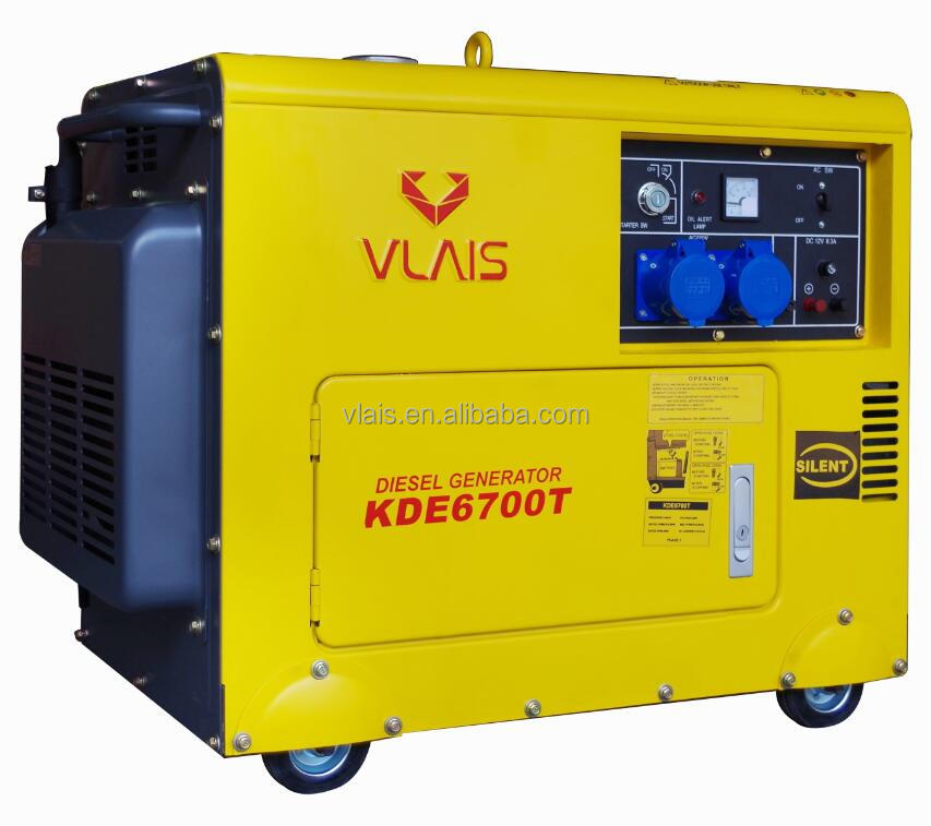 KDE6700T 5KW Small Sound Proof Diesel Generator Set Prices Portable Silent Water-Cooled Diesel Generator for Sale