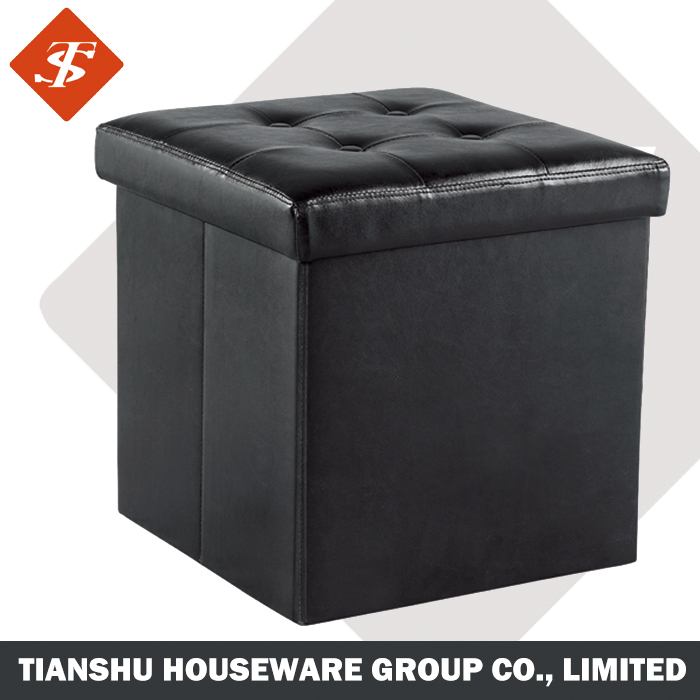 ottoman Folding Storage function, ottoman chair footstool, cube ottoman stool