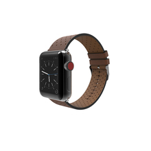 Hole Style Genuine Leather Watch Strap Classic Frontier Smart Bracelet Strap Replacement Watch Band For Apple Watch