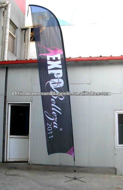advertising flag 3m 4m 5m roadside banner, feather flags for 2014 world cup