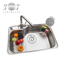SUS 304 stainless steel hand wash kitchen sinks with accessories